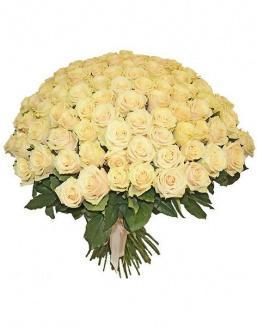 Bouquet 101 cream roses | Flowers to women
