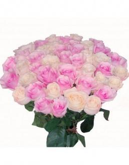 Bouquet of roses: pink and cream | Flowers to women