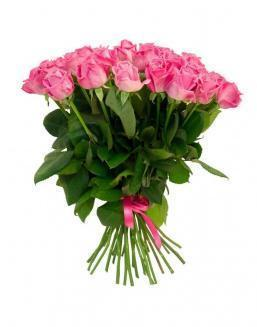 Bouquet of 25 pink holland roses | Flowers to women