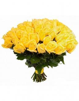 Bouquet of 51 yellow roses | Flowers to women