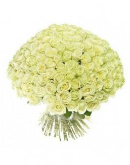 Bouquet 201 white roses | Flowers to women