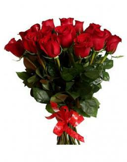 21 long red roses deluxe | Flowers to women