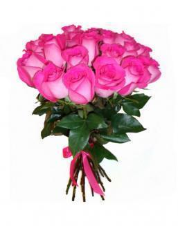 21 high elite pink roses | Flowers to women