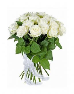 21 high elite white roses | Flowers to women
