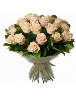 33 high elite cream roses | Flowers to women
