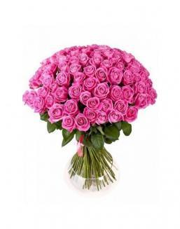 77 high elite pink roses | Flowers to women